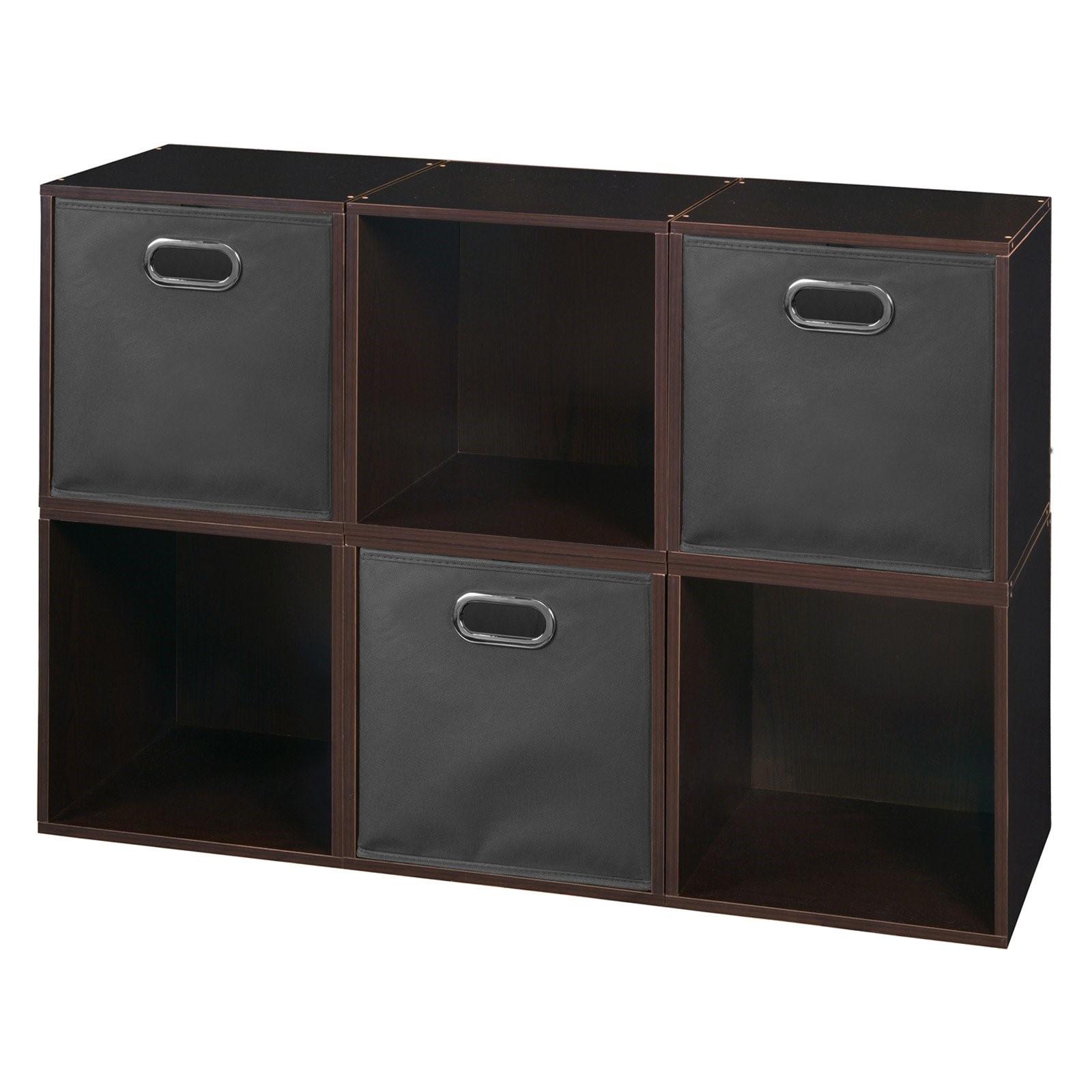 Niche Cubo Storage Set - 6 Cubes and 3 Canvas Bins
