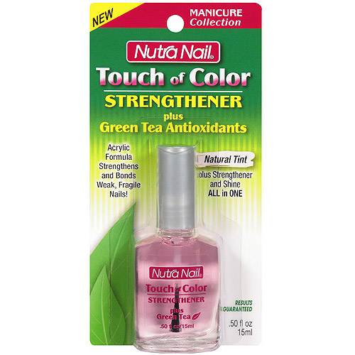 Nutra Nail Touch of Color Strengthener Plus Green Tea Polish, 0.5 fl oz