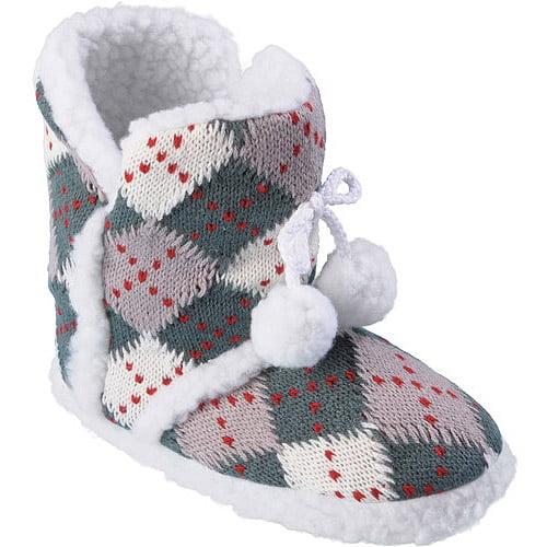 Brinley Co Kids' Pom Pom Slipper Boots