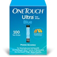 OneTouch Ultra Blue Blood Glucose Test Strips, 100 Count