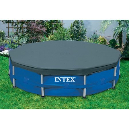 Intex 15' Round Frame Above Ground Pool Debris Cover with Drain Holes 28032E