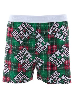 22a9bf5d2af Product Image Fun Boxers Men s Do Not Open Green Cotton Boxer Shorts