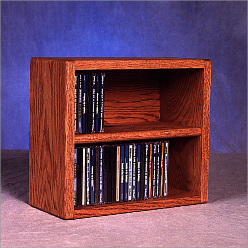 Wood Shed 200 Series 52 CD Multimedia Tabletop Storage Rack