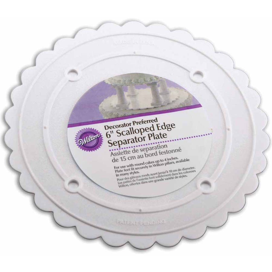 Wilton Decorator Preferred 6 Scalloped Separator Plate, Round 302 - 6