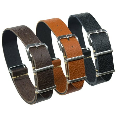 20mm One Strap, Italian Leather Shrunken Chocolate Brown
