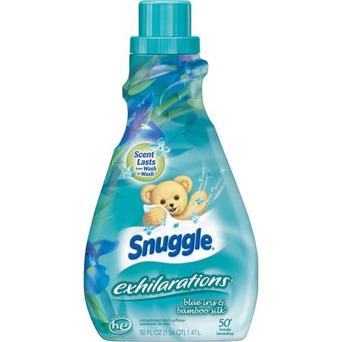 Snuggle Exhilarations Silk Liquid Fabric Softener, Blue Iris & Bamboo, 50 oz