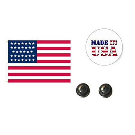 Made in the USA. 2 Historical 34-Star American 4