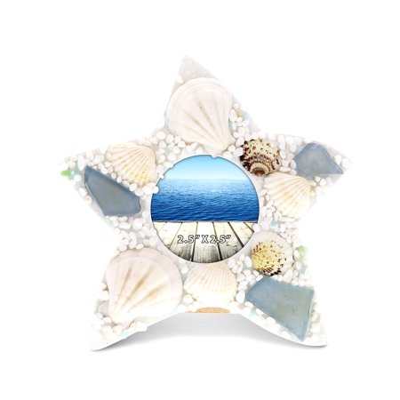 Nautical Decor CoTa Global Oceanic Starfish Sea Shell Photo Frame ()