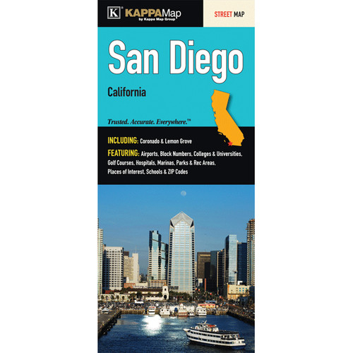 Universal Map San Diego California Fold Map