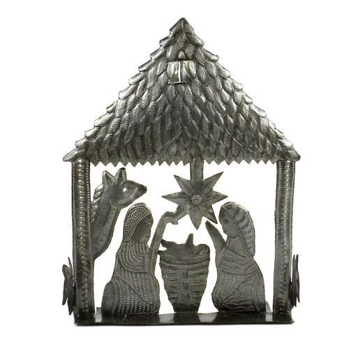 The Holiday Aisle Table Top Metal Nativity
