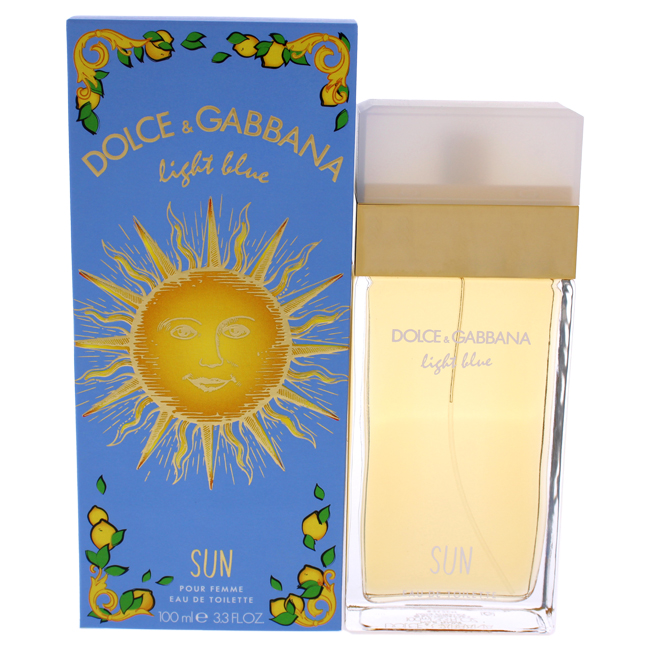 Dolce Gabbana Dolce Gabbana Light Blue Sun Eau De Toilette Spray For Women 3 3 Oz Walmart Com Walmart Com