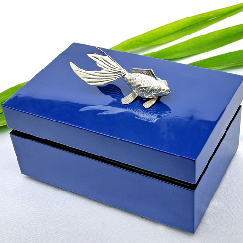 Bodhi Tree Collections Rectangular Box with Fish