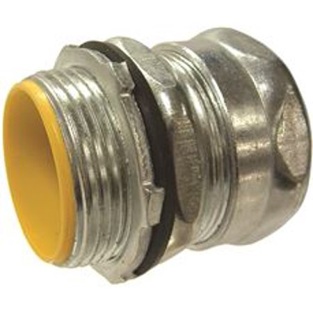 Raintight Emt Insulated Compression Connector, Steel, 1 In. Trade Size, 15 Per Box (Emt Steel Compression Connector)