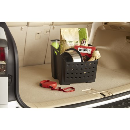 Rubbermaid Cargo Bin Car Interior Organization Non-Slip Rubber Feet Perfect for Trunk and Groceries - Decorate Car Trunk Halloween
