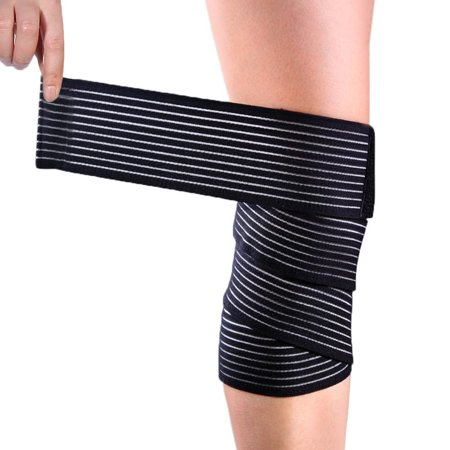 VGEBY 1 PCS Elastic Calf Shin Compression Bandage Brace Thigh Leg Wraps Support for Sports, Weightlifting, Fitness, Running - Knee Straps for Squats Men Women - Leg Wraps