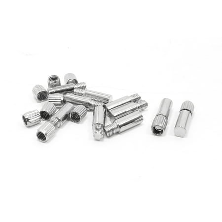 20x6mm Glass Shelf Interlayer Support Holder Threaded 10 Sets Double Glass Shelf Support