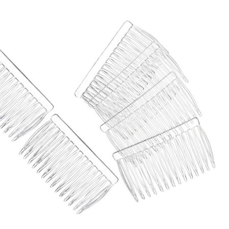 Clear Plastic Hair Combs Ready to Decorate Bridal Accessories Hair Supplies Craft DIY 12 Pack ()