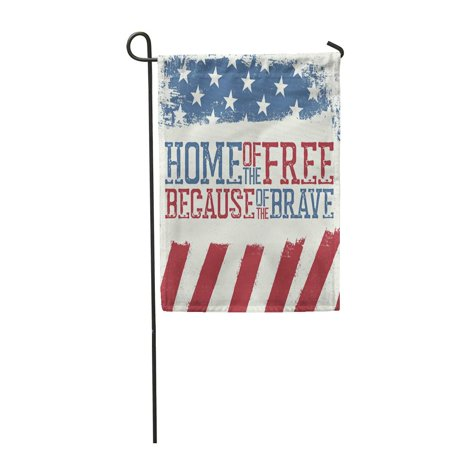 KDAGR Blue Americana Patriotic Design Independence Day Celebration of 4Th July Red AME Garden Flag Decorative Flag House Banner 12x18 inch