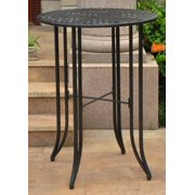 Iron Bar-Height Patio Table in Antique Black
