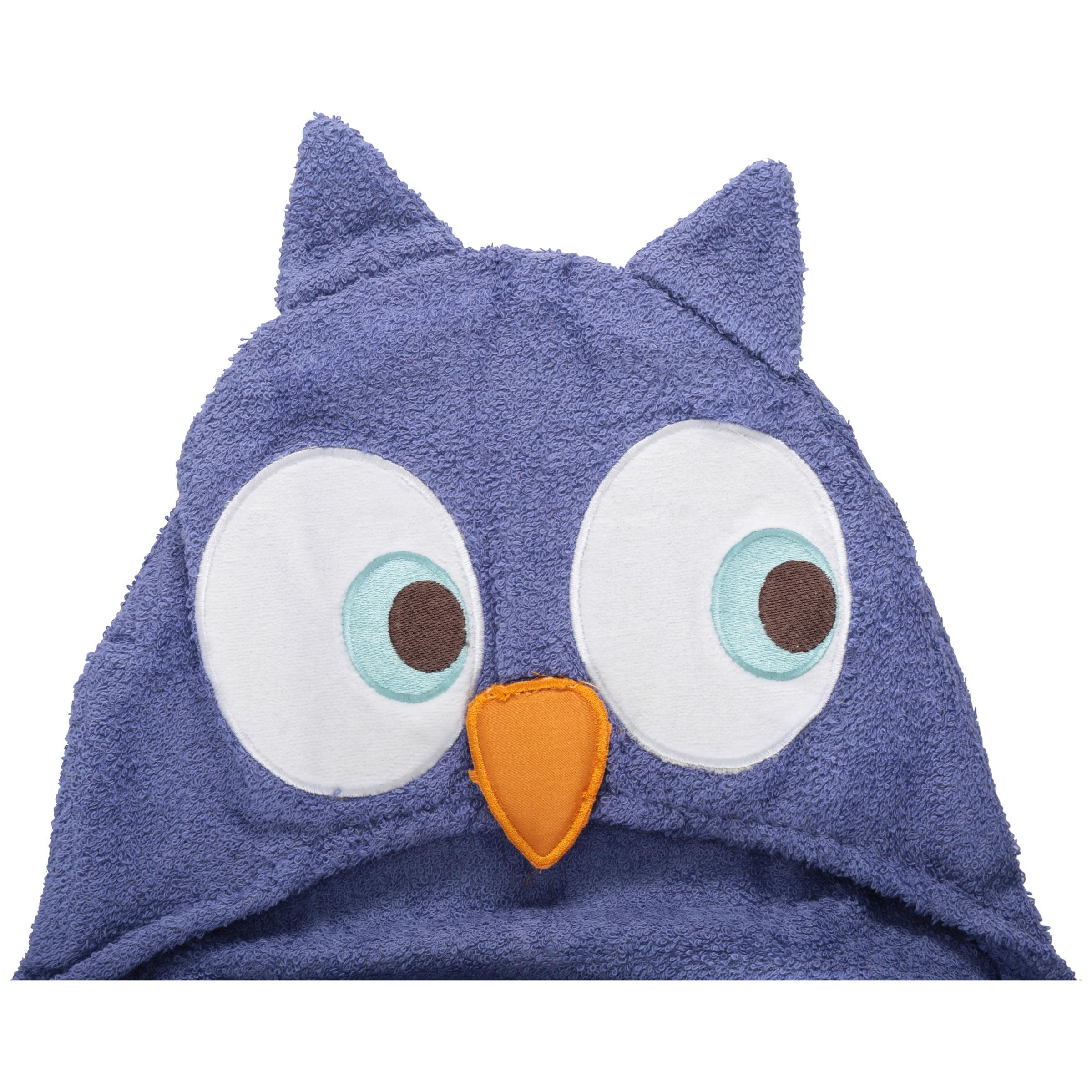 Mainstays Kids Whooty Hoot Purple Owl Hooded Bath Towel by Saturday Knight Ltd.