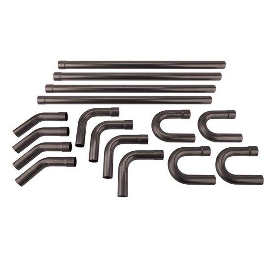 Universal Mild Steel Dual Exhaust Mandrel Bend Kit, 2-1/4 Inch