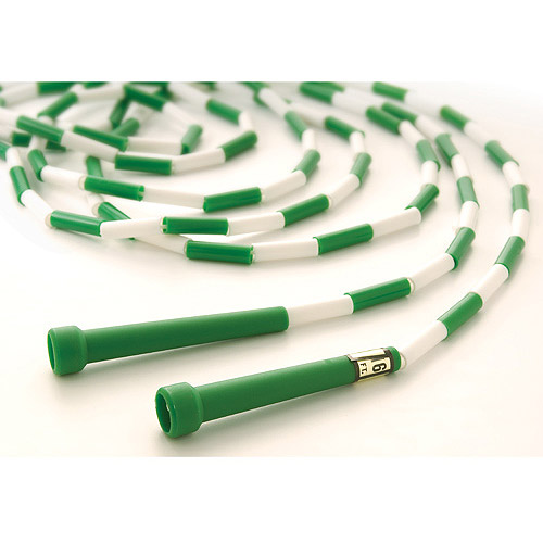 16' Segmented Skip Rope, Green/White