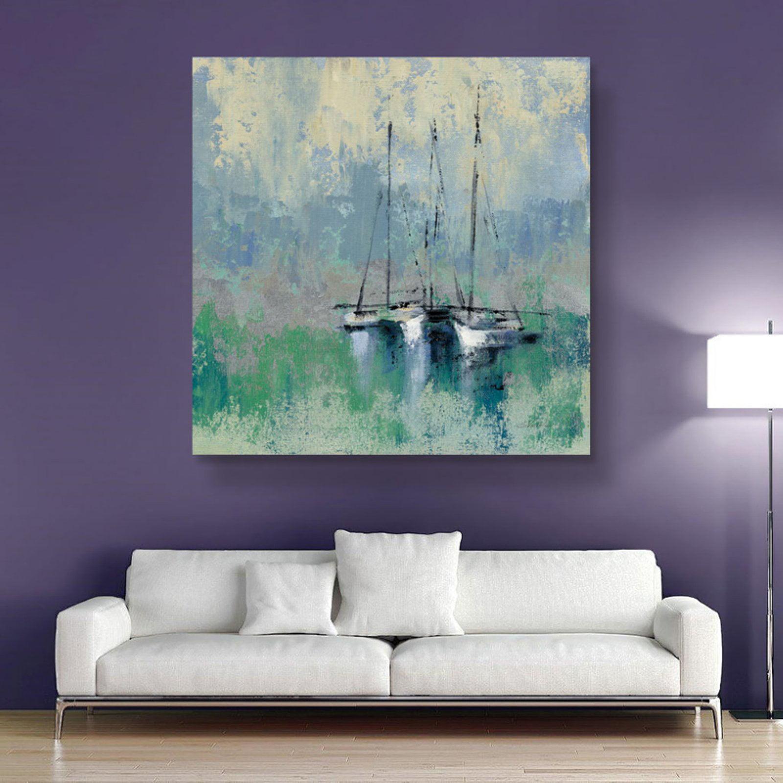 Brushstone Boats in the Harbor II by Silvia Vassileva Removable Wall Art Mural