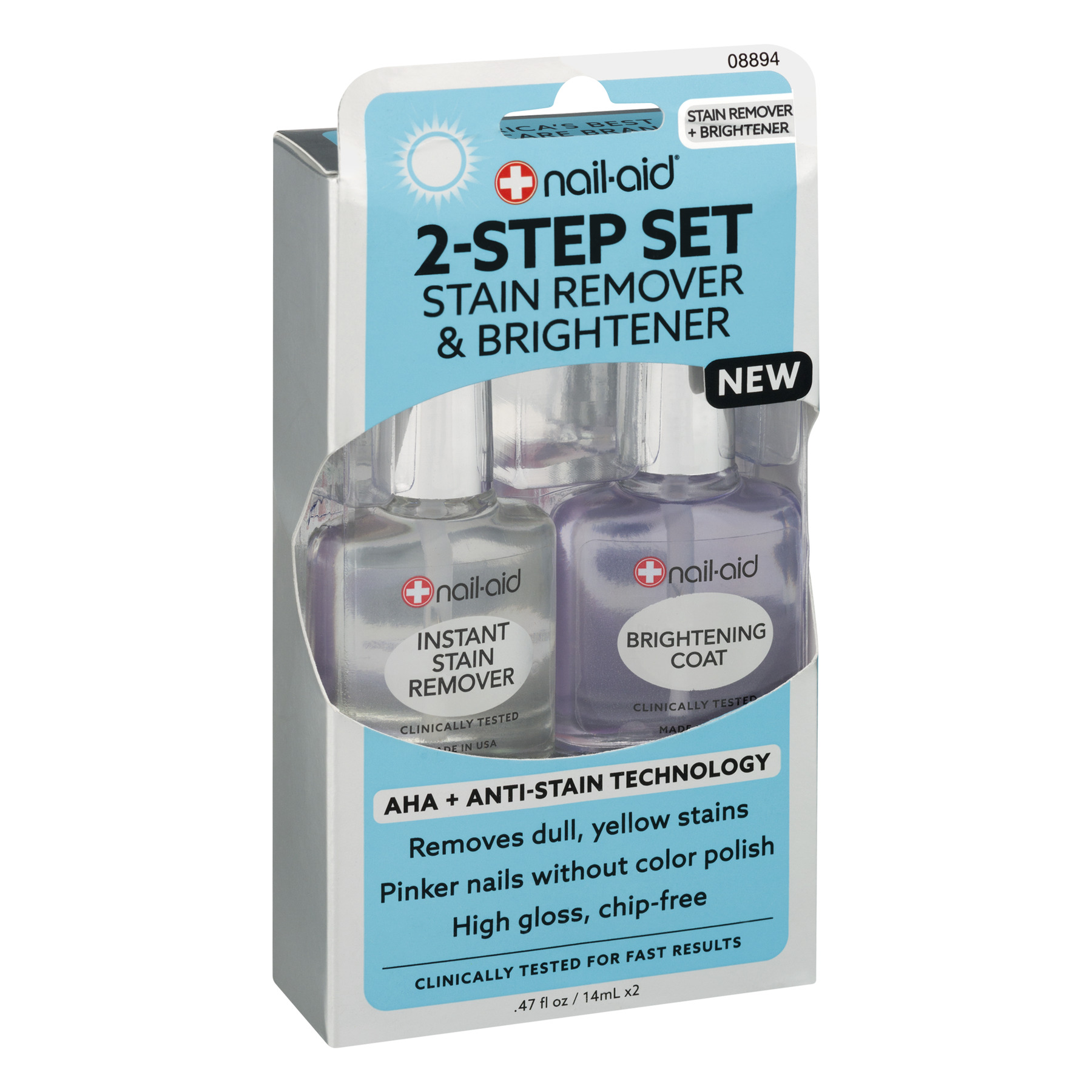 Nail Aid 2 Step Set Stain Remover Brightener 2 0 Piece S Walmart Com Walmart Com