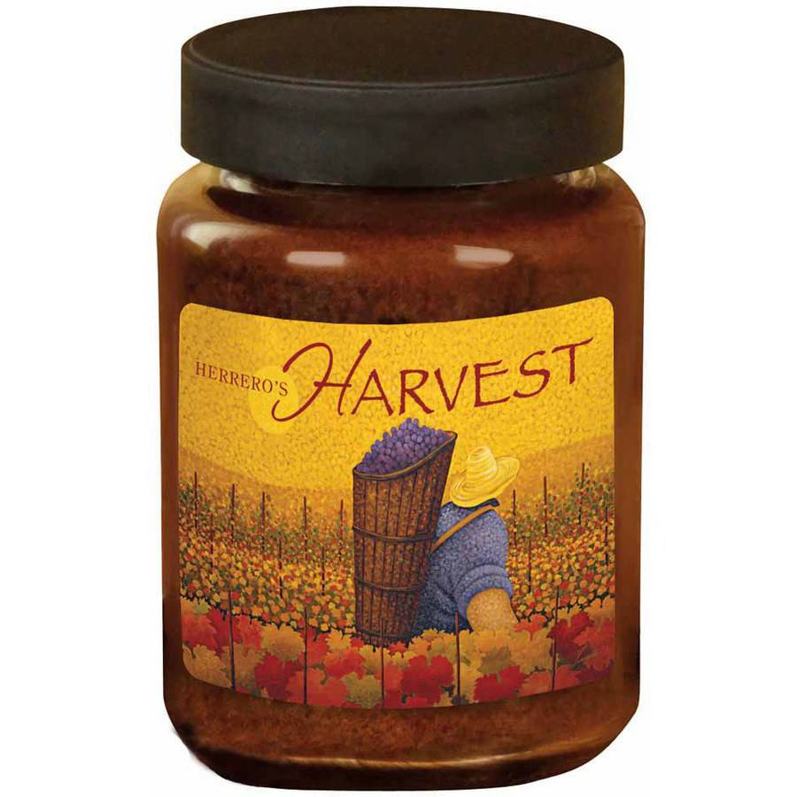 LANG Herrero's Harvest 26-Ounce Jar Candle, Scented with Cranberry, Orange, Cinnamon and Nutmeg