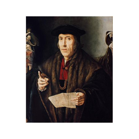 Portrait of a Man, Possibly Judge John More, Father of Sir Thomas More (1478-1535) Print Wall Art By Jan Cornelisz