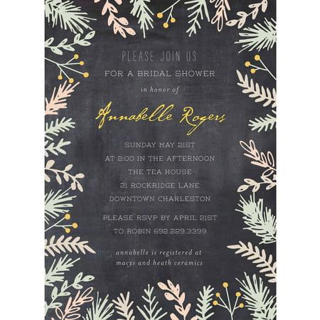 Bride Botanical Standard Bridal Shower - Brides Invitation Kit