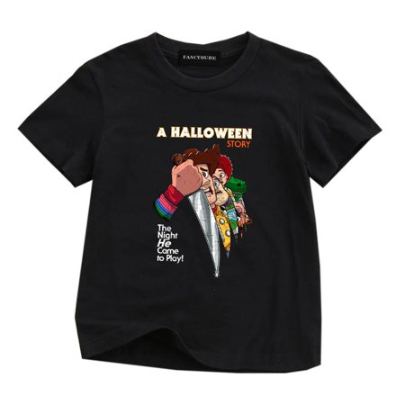 Funny Four Person Halloween Costumes (Fancyleo Childrenand#39;S Clothing Funny Toy Story A Halloween Story Print T Shirt Casual O-Neck Cotton Loose Tee Shirt For)