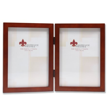 5x7 Hinged Double Walnut Wood Picture Frame - Gallery -