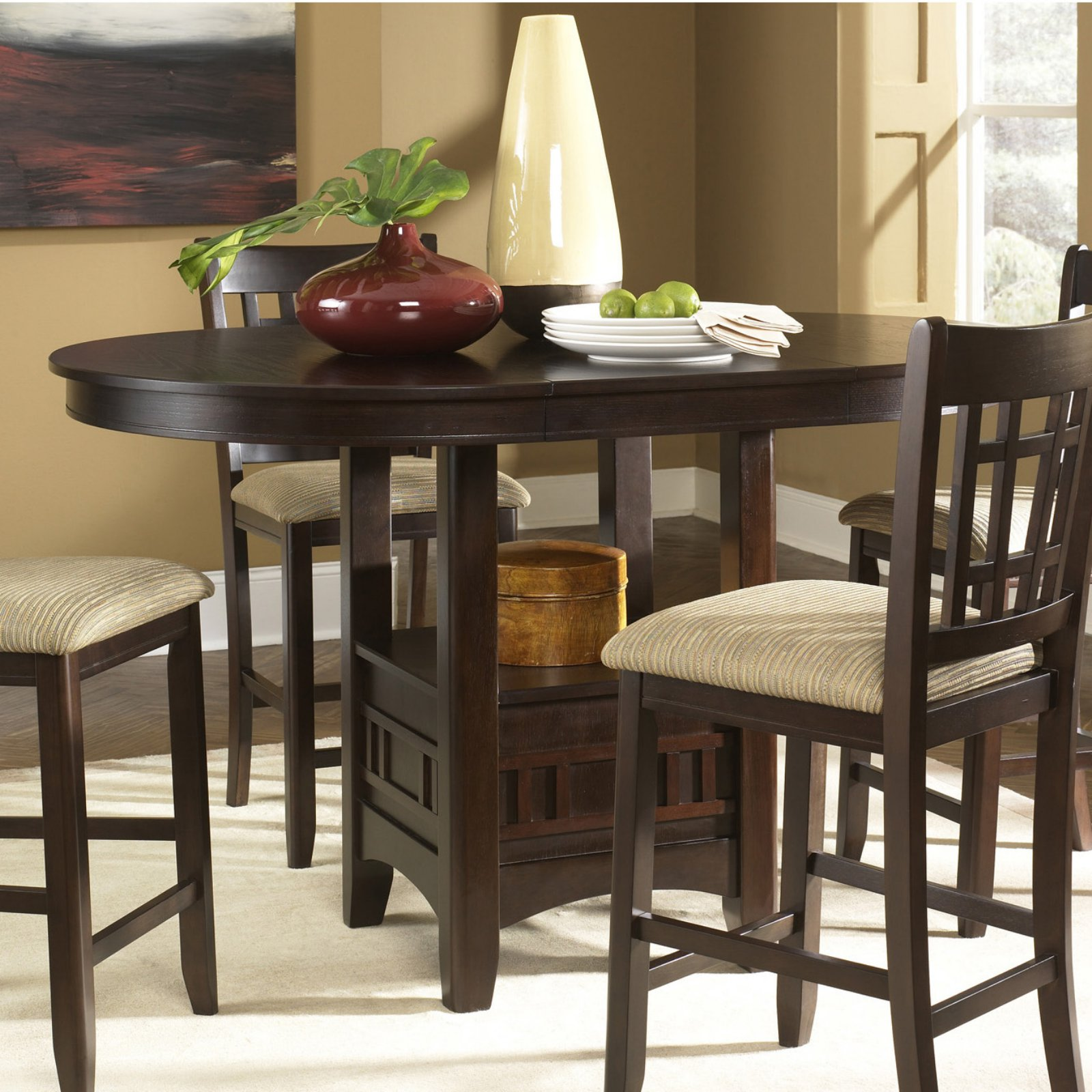 Liberty Furniture Santa Rosa Merlot Counter Height Dining Table