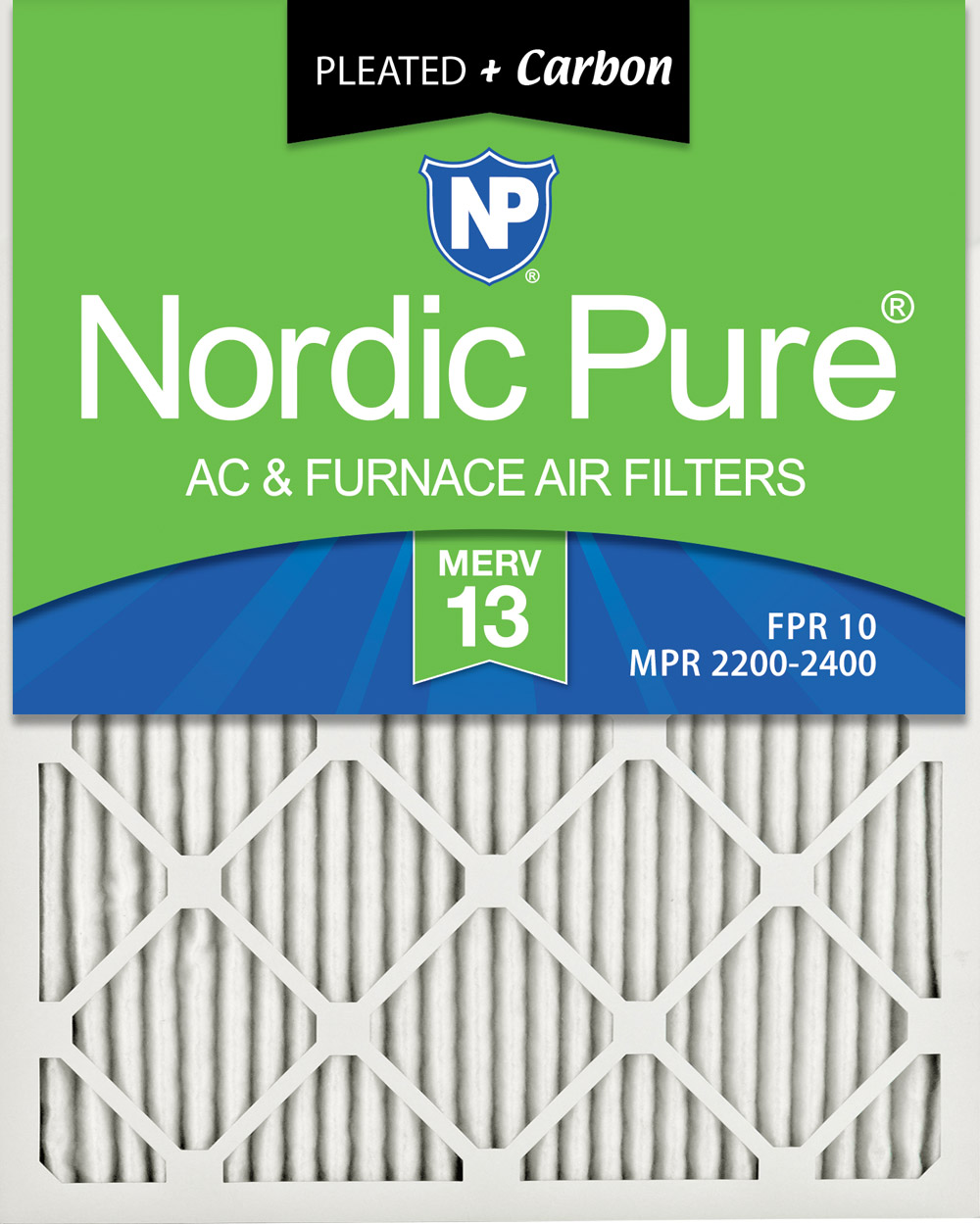 Nordic Pure 12x24x1 MPR 2200 Healthy Living Elite Allergen Replacement AC Furnace Air Filters 3 Pack