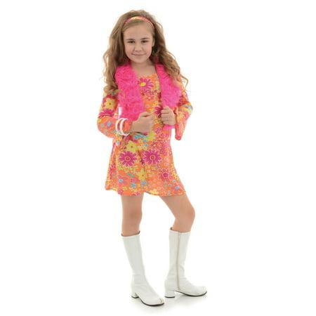 Girl's Flower Power 70's Costume - image 1 of 1