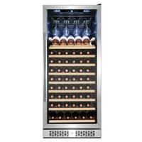 AKDY 59-Bottle Touch Panel Single Zone Wood Shelf Freestanding Compressor Wine Cooler