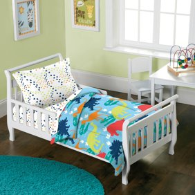 Dream Factory Dinosaur 4 Piece Toddler Mini Bed In A Ba