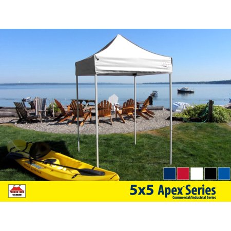 5x5 Apex Series 3 Commercial Pop Up Canopy with Snow White 600D top