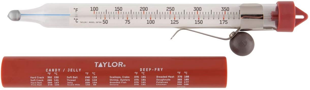 Red//Clear by Escali Escali AHC3 Candy//Deep Fry Thermometer