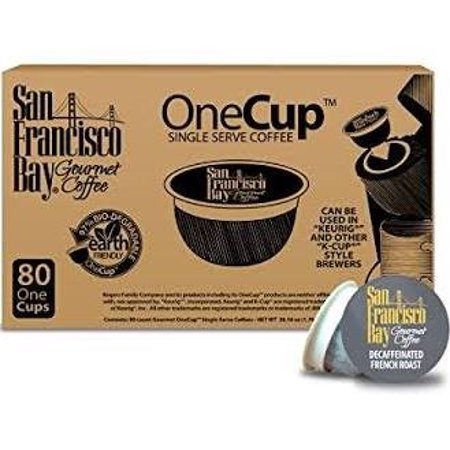 San Francisco Bay Coffee Organic Single Serve Coffee for Keurig, Rainforest Blend, 80