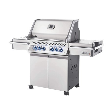 Fire And Ice Grill - Napoleon Prestige Pro 500 Grill on Cart w/ IR Rotiss., Side Burner, Natural Gas