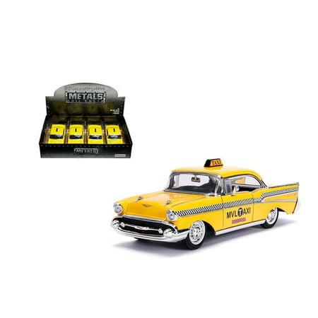 JADA 1:24 DISPLAY - METALS - HOLLYWOOD RIDES - 1957 CHEVROLET BEL AIR HARDTOP - DEADPOOL TAXI (YELLOW METALLIC) 1 ITEM WITHOUT RETAIL BOX 30839 Chevrolet Bel Air Hardtop