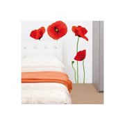 Smart Deco 10 Piece Poppies Wall Decal