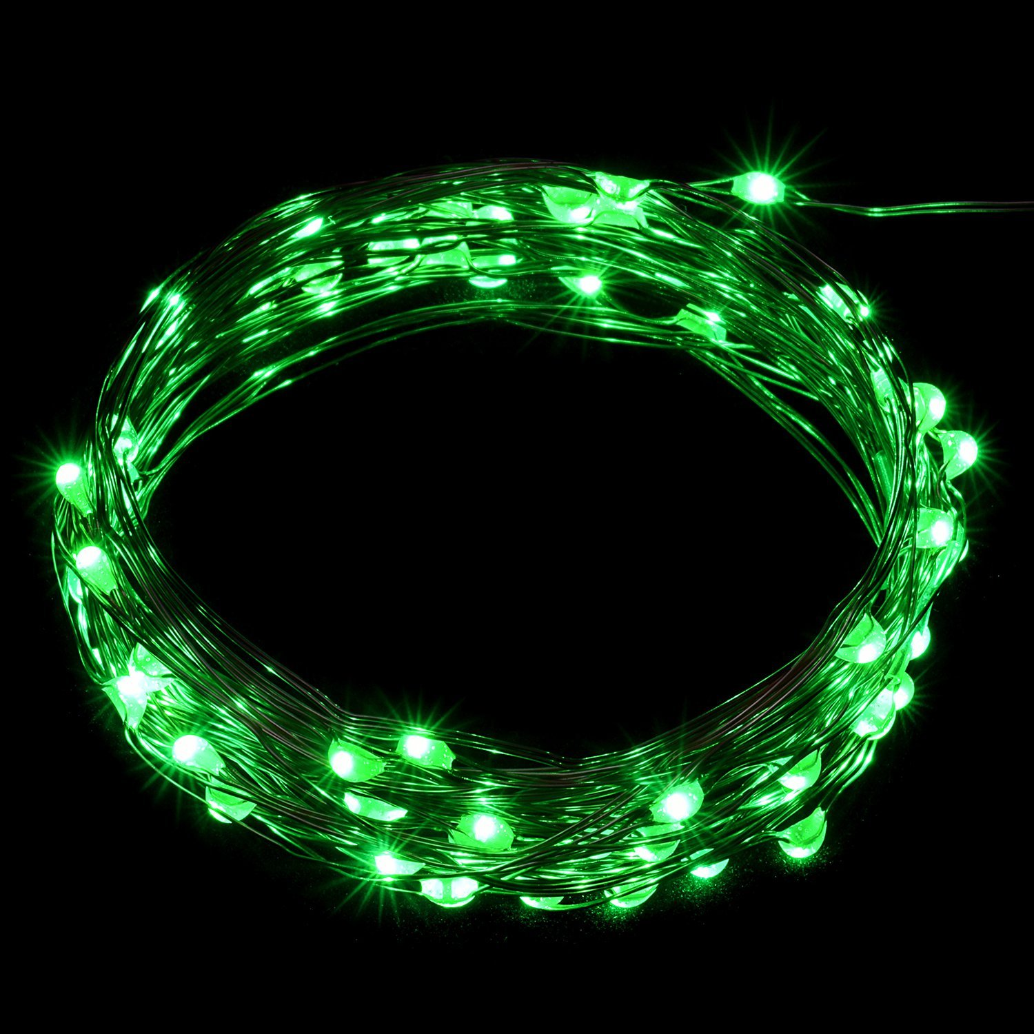 Oak Leaf 2 Set of 60 LEDs Starry Lights USB LED String Lights Copper Wire for Home Bedroom Party Wedding Decoration (19.7ft,Green)