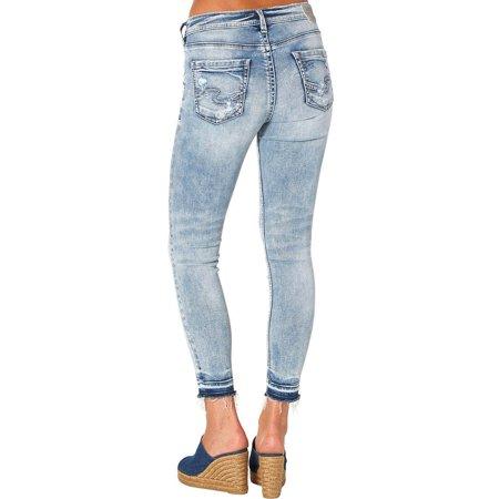 d68e4430a39 Silver Women s Indigo Avery Ankle Skinny Light Wash Jeans Plus Size -  L94103ssx157 - Walmart.com