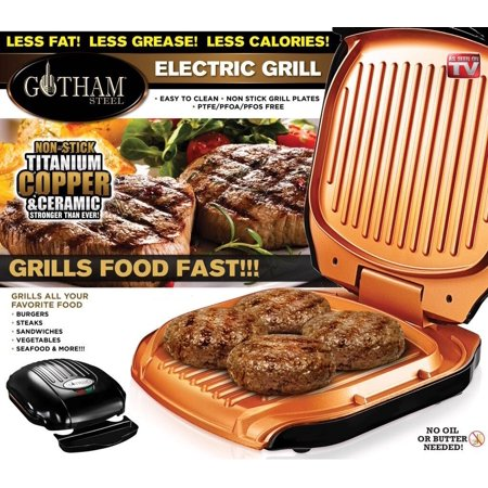 Gotham Steel Low Fat Multipurpose Grill with Nonstick Copper Coating ...