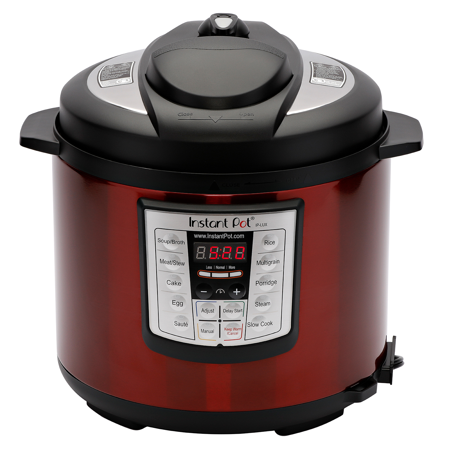 Instant Pot Pressure Cooker: Instant Pot LUX60 Red Stainless Steel 6 Qt 6-in-1 Multi