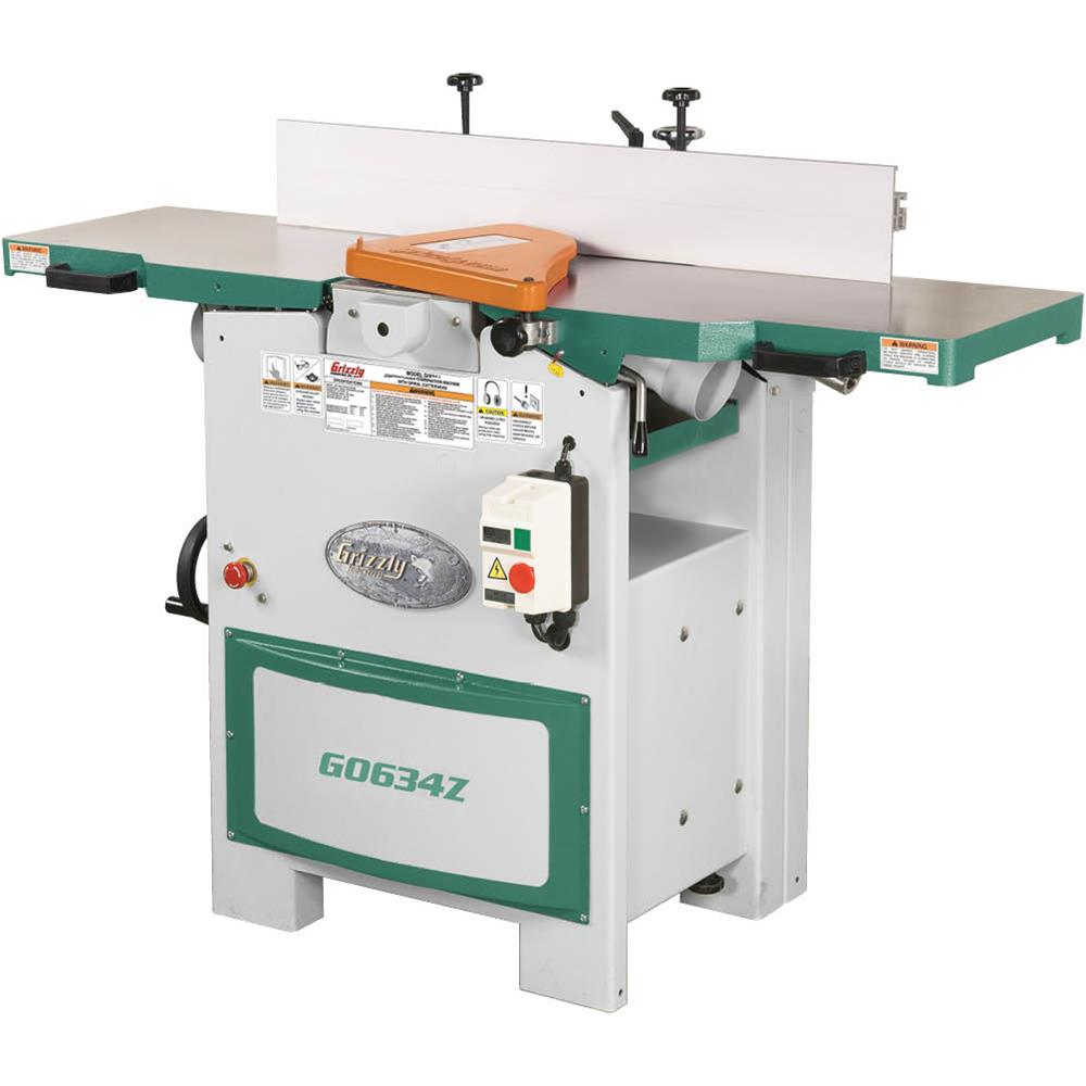 """Grizzly G0634Z 12"""" Planer/Jointer with Spiral Cutterhead ..."""