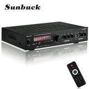 Best Bluetooth Audio Receivers - Sunbuck Home Audio Amplifier Wireless bluetooth 2000W 5 Review